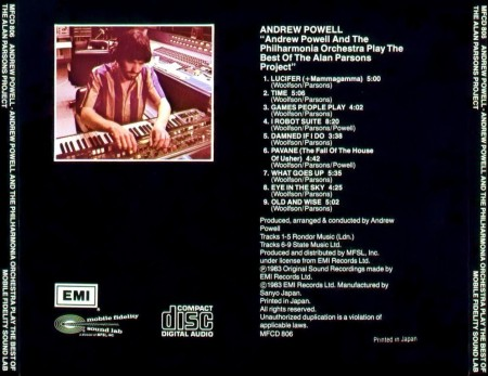 Andrew Powell And The Philharmonia Orchestra Play The Best Of Alan Parsons Project (1983)