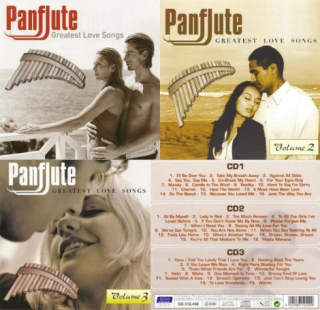 Panflute: Greatest Love Songs Vol. 1-3 (2006-2007)