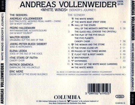 Andreas Vollenweider - White Winds (1984) FLAC