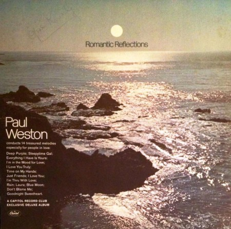 Paul Weston - Romantic Reflections (LP, 1967)