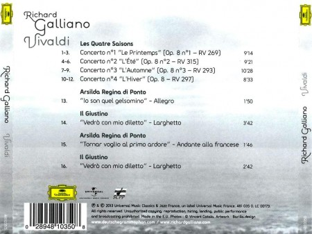 Richard Galliano - Vivaldi (2013) FLAC