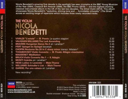 Nicola Benedetti - The Violin (2013) MP3 & FLAC